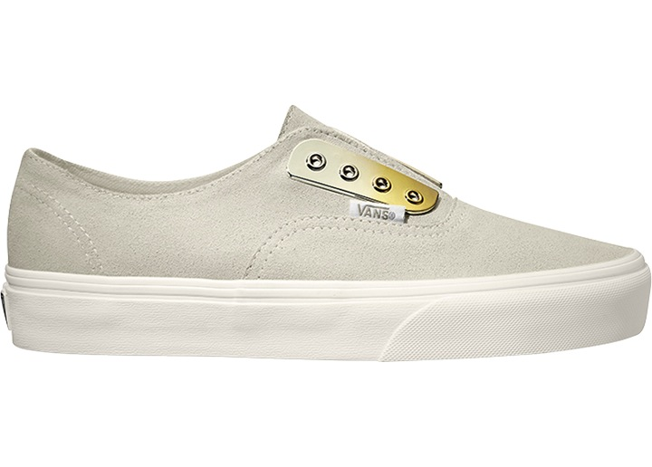 68b75bf5ef6edf Vans Slip-On Sneakers Skate Shoes White Authentic Gore Me Suede